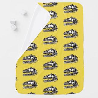 DINO - Yellow Baby Blanket