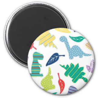 Dinomite! Cute Colorful Dinosaur Pattern Magnet