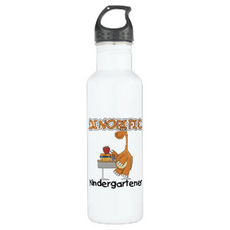 Dinorific Kindergartener T-shirts and 710 Ml Water Bottle