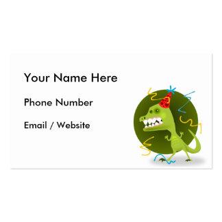 Dino's Rock - Dinosaur Birthday Party Business Card Templates