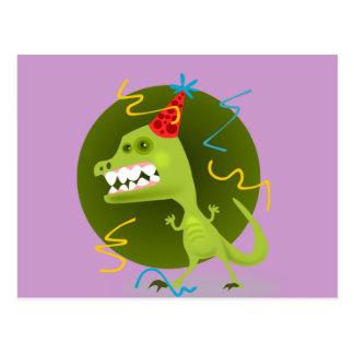 Dino's Rock - Dinosaur Birthday Party Postcard