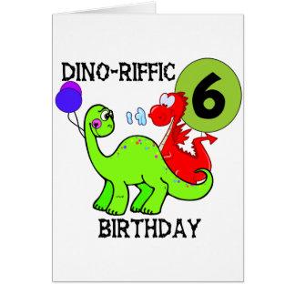 Dinosaur 6th Birthday T-shirts and Gifts Card