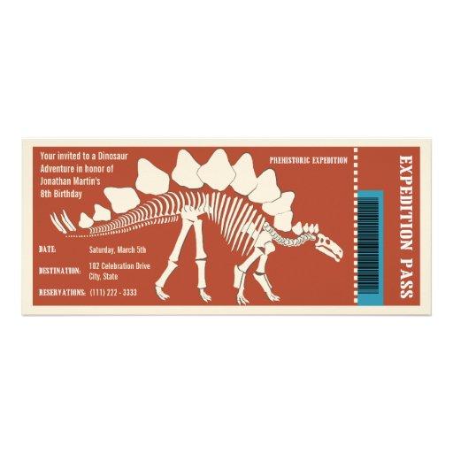 Dinosaur Adventure Pass Personalized Invite