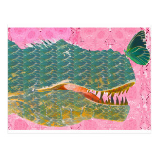 Dinosaur and Butterfly Art Gifts Postcard