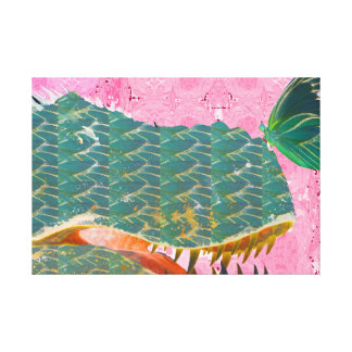 Dinosaur and Butterfly Art Print on Canvas