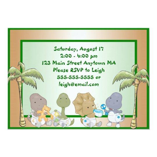 Dinosaur Babies Birthday Invitation