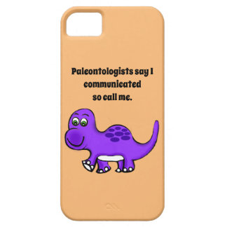 Dinosaur Baby Calling Barely There iPhone 5 Case
