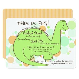 Dinosaur Baby Shower Brontosaurus Card