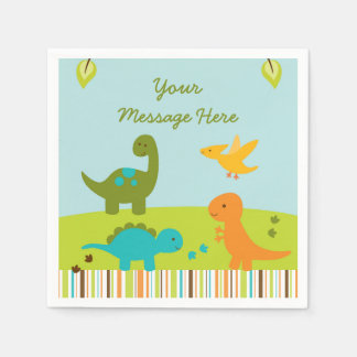 Dinosaur Baby Shower Paper Napkin