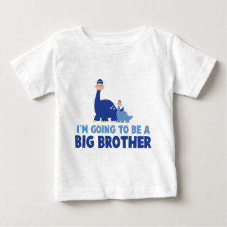dinosaur big brother to be NEW blue Tshirts