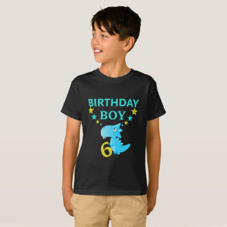 Dinosaur Birthday Boy 6 Trending T-shirt