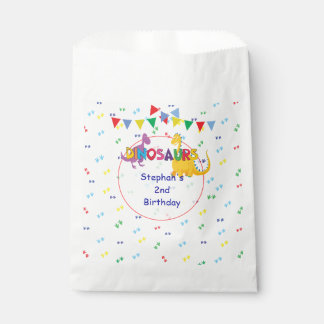 Dinosaur Birthday favor bags personalized