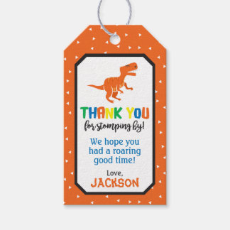 Dinosaur Birthday Favor Tags | Dinosaur Gift Tags