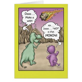 Dinosaur Birthday Humor, Wish upon a star Card