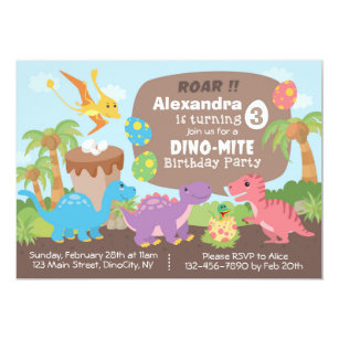 Dinosaur Invitations Announcements Zazzlecomau