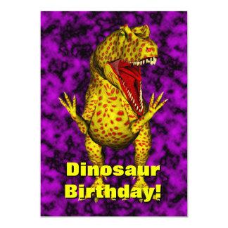 Dinosaur Birthday Invite