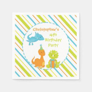 Dinosaur Birthday Party Dino Personalised Napkin Paper Napkins