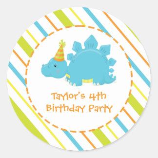 Dinosaur Birthday Party Dino Personalised Sticker