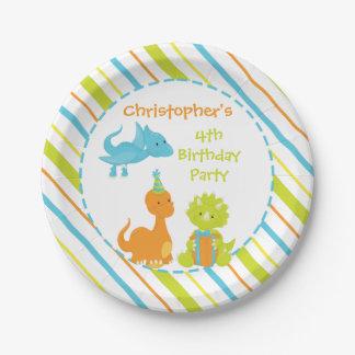 Dinosaur Birthday Party Dino Personalized Plate