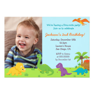 Dinosaur Birthday Party Invitaions Cards
