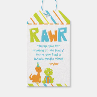 Dinosaur Birthday Party Personalised Favour Tag