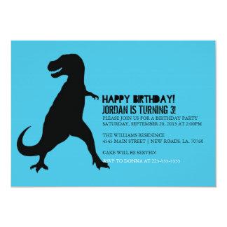 Dinosaur Birthday Party   T-Rex Card