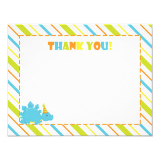 Dinosaur Birthday Party Thank You Flat A2 Card