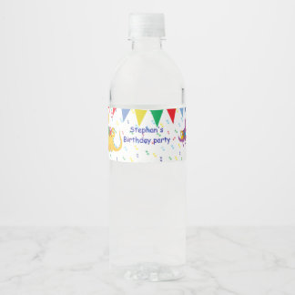 Dinosaur Birthday party water-bottle labels