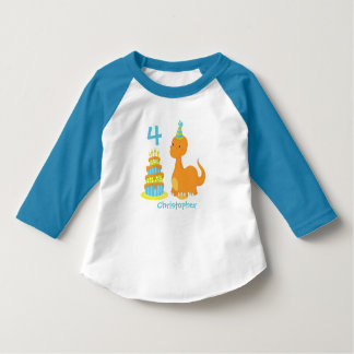 Dinosaur Birthday Personalized Shirt - Dino Bday