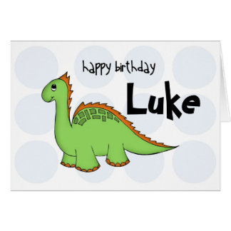 dinosaur blank card