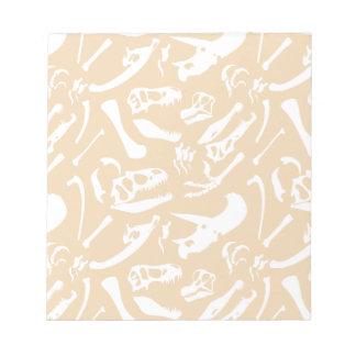 Dinosaur Bones (Gold) Notepad