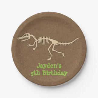 Dinosaur Bones Kids Birthday Party Supplies 7 Inch Paper Plate