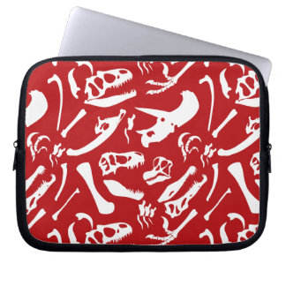 Dinosaur Bones (Red) Laptop Sleeve