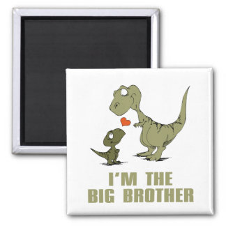 Dinosaur Brothers Square Magnet