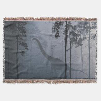 Dinosaur by Moonlight Throw Blanket