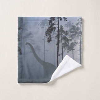 Dinosaur by Moonlight Wash Cloth