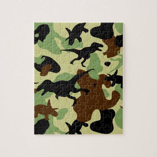 Dinosaur camouflage puzzle
