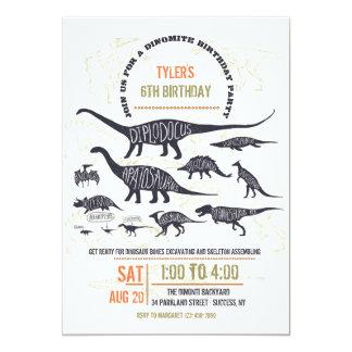 Dinosaur Chart Invitation