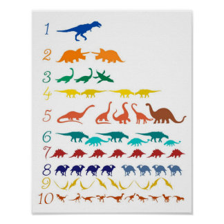dinosaur counting chart
