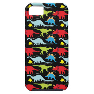 Dinosaur Designs Blue Red Green on Black Tough iPhone 5 Case