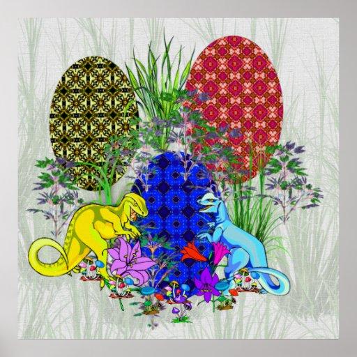 Dinosaur Easter Eggs Posters