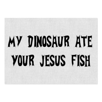 Dinosaur Eats Jesus Fish Pack Of Chubby Business Cards
