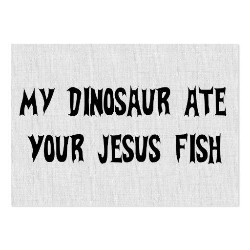 Dinosaur Eats Jesus Fish Business Cards