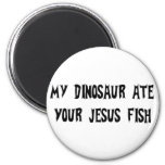 Dinosaur Eats Jesus Fish Magnet
