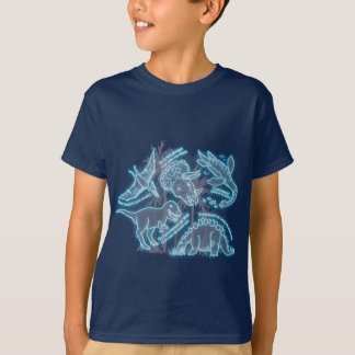 Dinosaur electric blue t-shirt