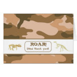 Dinosaur Fossil Realistic Thank You Note Cards