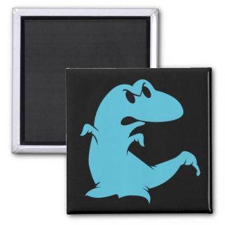 Dinosaur Ghost Square Magnet