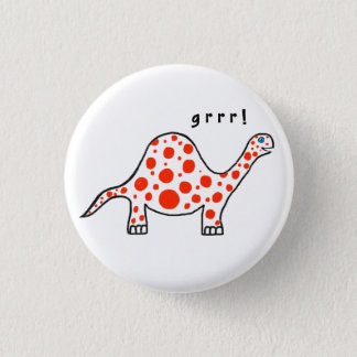 Dinosaur Grrr! Button Badge