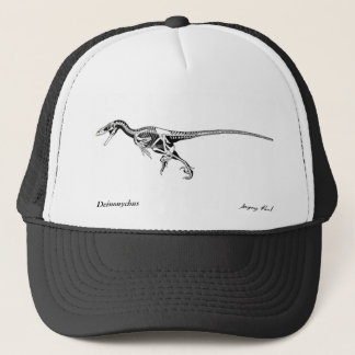 Dinosaur Hat Deinonychus skeleton  Gregory Paul