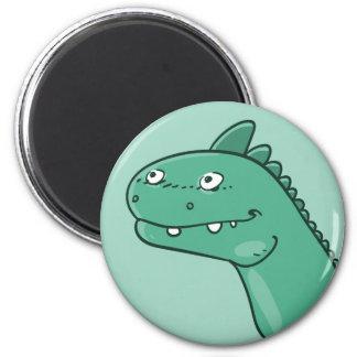 dinosaur head funny cartoon magnet